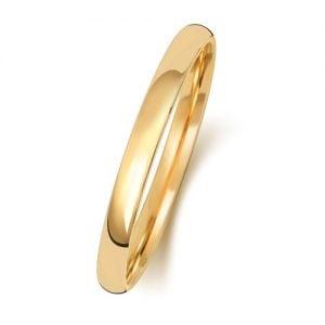w111ha18k,14k,9k,GOLD,guld,ring,wedding band,2mm,D-shape.Slightly court1