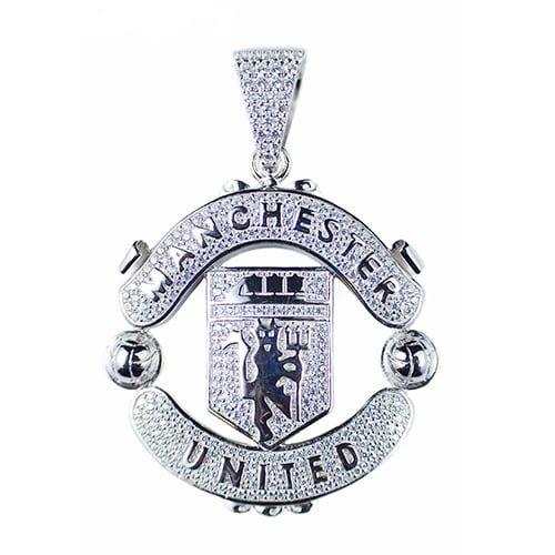 ManchesterUnited,Reddevils,silver,925,topjewellery,pendant,football,fotboll,