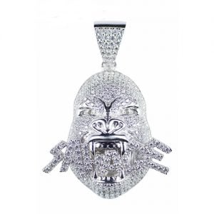 Savage gorilla large pendant,topjewellery,jewellery,icedout,diamond