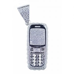 Trapphone,trap,phone,pendant,silver,925,topjewellery,jewlry