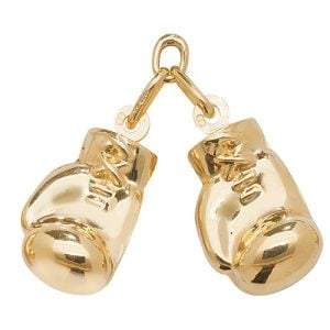 9 CT DOUBLE BOXING GLOVES PENDANT