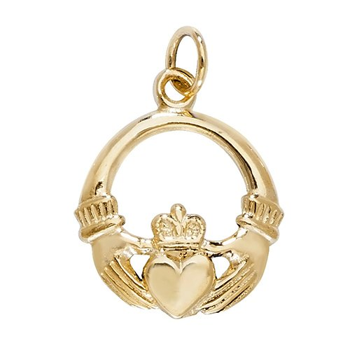 Claddag charm pendant,claddag,pendant,charm,vintage pendant,charm,18k,9k,18ct,9ct,375,750,top jewellery,goldonline