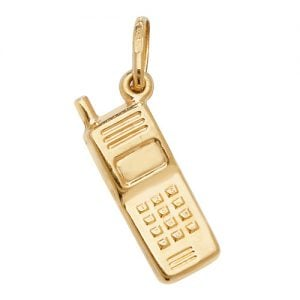 Celephone phone,mobile phone,phone pendant,phone,18k,9k,18ct,9ct,375,750,top jewellery,goldonline