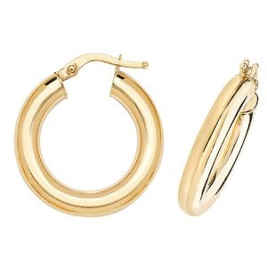 Plain Yellow Gold Hoop Earrings,Yellow Gold Hoop Earrings 20 mm,30mm ,9ct,18ct,14ct,topjewellery,top,jewellery,topjewelleryukBirmingham,Jewellery Quarter.2