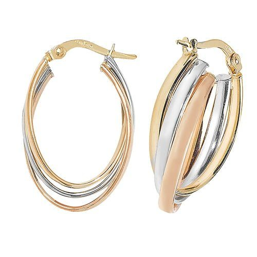 Tri Color Rose,White & Yellow Gold Hoop Earrings,white Gold Hoop Earrings 20 mm,30mm ,9ct,18ct,14ct,topjewellery,top,jewellery,topjewelleryukBirmingham,Jewellery Quarter.2