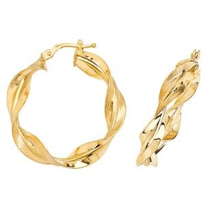 Twisted Yellow Gold Hoop Earrings,Yellow Gold Hoop Earrings 20 mm,30mm ,9ct,18ct,14ct,topjewellery,top,jewellery,topjewelleryukBirmingham,Jewellery Quarter