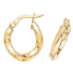 Twisted Yellow Gold Hoop Earrings,Yellow Gold Hoop Earrings 20 mm,30mm ,9ct,18ct,14ct,topjewellery,top,jewellery,topjewelleryukBirmingham,Jewellery Quarter2