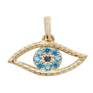 Evil eye cz charm pendant,evil eye,pendant,charm,eye pendant, pendant,charm,religion,18k,9k,18ct,9ct,375,750,top jewellery,goldonline