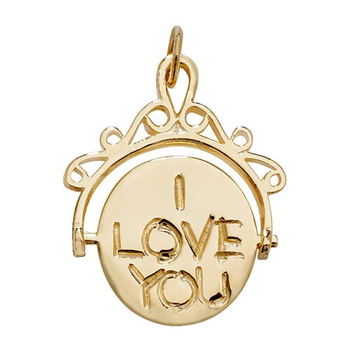 I love you spinning charm pendant,iloveyou,i,love,you,pendant,charm,love pendant,charm,18k,9k,18ct,9ct,375,750,top jewellery,goldonline
