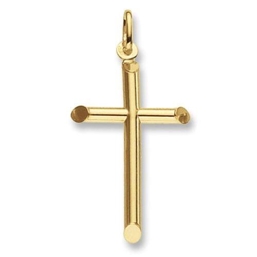 Plain cross,18k,9k,18ct,9ct,375,750,top jewellery,goldonline