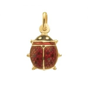 Ladybug,mobile bug,ladybug pendant,red enamel,18k,9k,18ct,9ct,375,750,top jewellery,goldonline