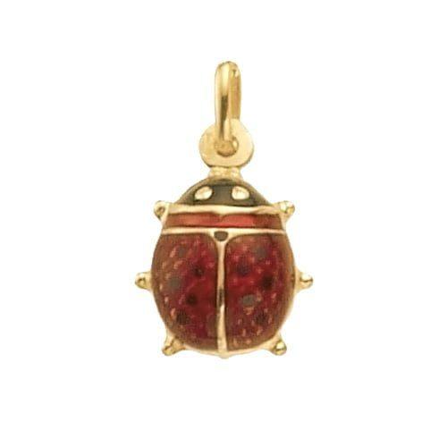 Ladybug,mobile bug,ladybug pendant,red enamel,18k,9k,18ct,9ct,375,750,top jewellery,goldonline