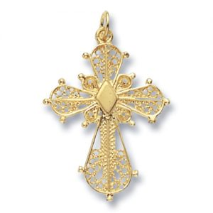 filigree cross,18k,9k,18ct,9ct,375,750,top jewellery,goldonline