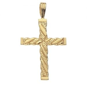 Patterned cross,18k,9k,18ct,9ct,375,750,top jewellery,goldonline