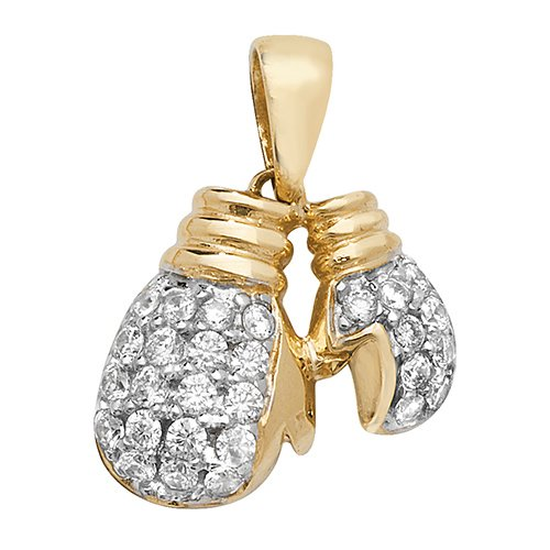 Double Boxing gloves,glove,boxing,9k,18k,375m750,gold,guld,Top Jewellery
