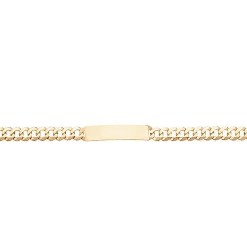 1.Curb,ID-Bracelet,Mens ID-Bracelet,Yellow gold,Patterned Bangle,Bangle bracelet,9k,14k,18k,750,585,375,gold,guld,topjwelleryuk,top jewellery,birmingham,uk