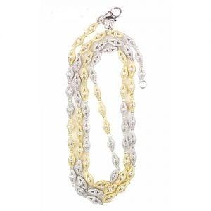 11.Silver CZ chain,925,cubiczirconia stones,zirconiastones,stones,zircoina,chian with diamond stones,chian with stones,topjewelleryuk,topjewellery,top,jewellery,uk,birmingham