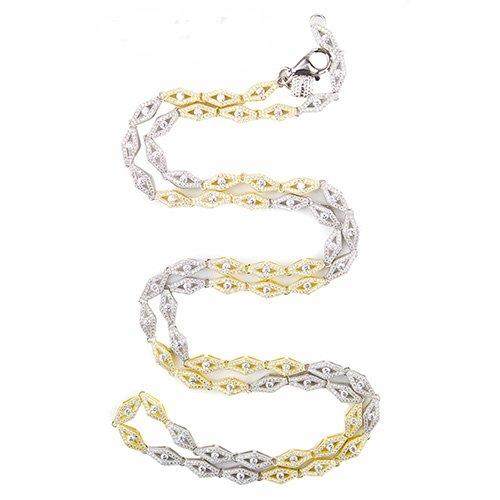 12.Silver CZ chain,925,cubiczirconia stones,zirconiastones,stones,zircoina,chian with diamond stones,chian with stones,topjewelleryuk,topjewellery,top,jewellery,uk,birmingham