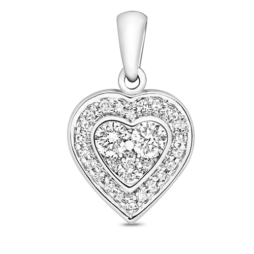 18ct Cluster Diamond Heart,Diamond Heart,Heart,Gold,Diamond,18ct,9ct,14ct,topjewellery,topjewelleryuk,birmingham