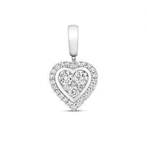 18ct Framed Cluster Diamond Heart,Diamond Heart,Heart,Gold,Diamond,18ct,9ct,14ct,topjewellery,topjewelleryuk,birmingham