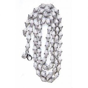 21.Silver CZ chain,925,cubiczirconia stones,zirconiastones,stones,zircoina,chian with diamond stones,chian with stones,topjewelleryuk,topjewellery,top,jewellery,uk,birmingham