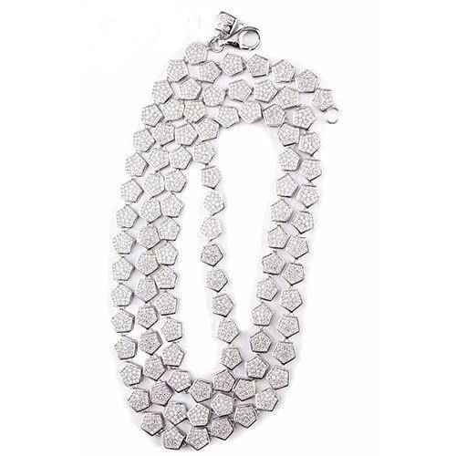 26.Silver CZ chain,925,cubiczirconia stones,zirconiastones,stones,zircoina,chian with diamond stones,chian with stones,topjewelleryuk,topjewellery,top,jewellery,uk,birmingham