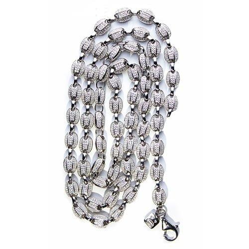 27.Silver CZ chain,925,cubiczirconia stones,zirconiastones,stones,zircoina,chian with diamond stones,chian with stones,topjewelleryuk,topjewellery,top,jewellery,uk,birmingham