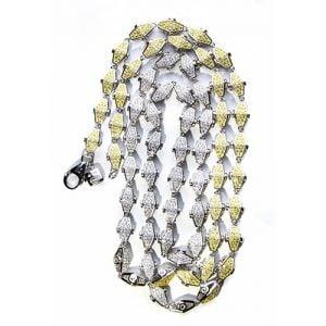 31.Silver CZ chain,925,cubiczirconia stones,zirconiastones,stones,zircoina,chian with diamond stones,chian with stones,topjewelleryuk,topjewellery,top,jewellery,uk,birmingham