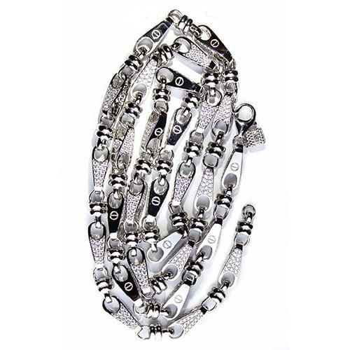 34.2.Silver CZ chain,925,cubiczirconia stones,zirconiastones,stones,zircoina,chian with diamond stones,chian with stones,topjewelleryuk,topjewellery,top,jewellery,uk,birmingham