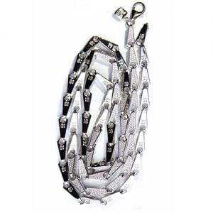 34.Silver CZ chain,925,cubiczirconia stones,zirconiastones,stones,zircoina,chian with diamond stones,chian with stones,topjewelleryuk,topjewellery,top,jewellery,uk,birmingham