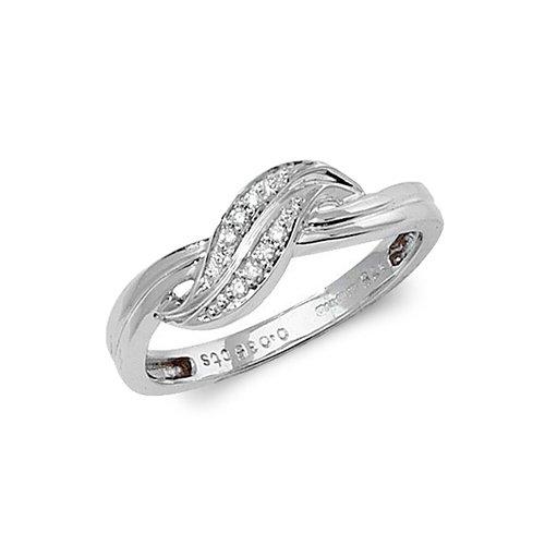 9ct 0.035ct Cross Over Diamond White Gold Ring,white gold,Diamond Cross Over,Cross Over,Gold,Diamond,18ct,9ct,14ct,topjewellery,topjewelleryuk,birmingham