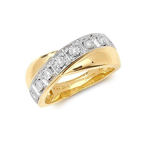 9ct 0.10ct Cross Over Diamond Yellow Gold Ring,yellow gold,Diamond Cross Over,Cross Over,Gold,Diamond,18ct,9ct,14ct,topjewellery,topjewelleryuk,birmingham