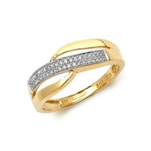 9ct 0.10ct Darie Cross Over Diamond Yellow Gold Ring,yellow gold,Diamond Cross Over,Cross Over,Gold,Diamond,18ct,9ct,14ct,topjewellery,topjewelleryuk,birmingham