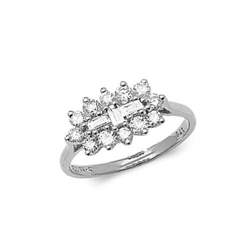 9ct 0.75ct Cluster Diamond White Gold Ring,white gold,Diamond Cluster,Cluster,Gold,Diamond,18ct,9ct,14ct,topjewellery,topjewelleryuk,birmingham