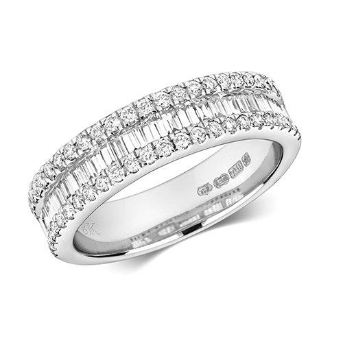 9ct 0,75ct Baguett Diamond Bow White Gold Ring,white gold,Diamond Cluster,Gold,Diamond,18ct,9ct,14ct,topjewellery,topjewelleryuk,birmingham