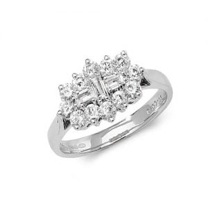 9ct 1.00ct Cluster Diamond White Gold Ring,white gold,Diamond Cluster,Cluster,Gold,Diamond,18ct,9ct,14ct,topjewellery,topjewelleryuk,birmingham