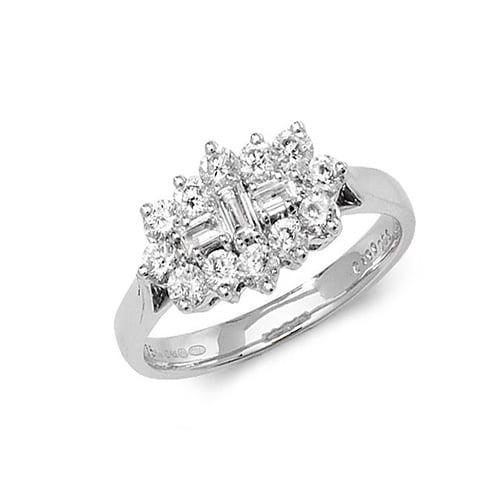 9ct 1.00ct Cluster Diamond White Gold Ring,white gold,Diamond Cluster,Cluster,Gold,Diamond,18ct,9ct,14ct,topjewellery,topjewelleryuk,birmingham
