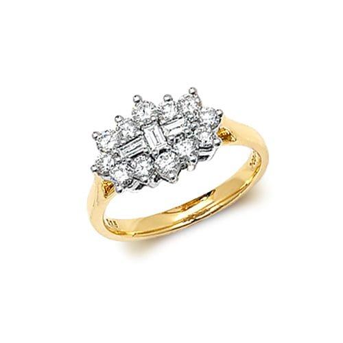 9ct 1,00 Cluster Diamond Bow Yellow Gold Ring,yellow gold,Diamond Cluster,Gold,Diamond,18ct,9ct,14ct,topjewellery,topjewelleryuk,birmingham