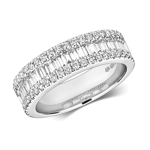 9ct 1,00ct Baguett Diamond Brilliant White Gold Ring,white gold,Diamond Baguette,Gold,Diamond,18ct,9ct,14ct,topjewellery,topjewelleryuk,birmingham