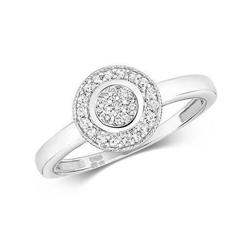 9ct Cluster Diamond Halo White Gold Ring,yellow gold,Diamond Halo,Halo,Gold,Diamond,18ct,9ct,14ct,topjewellery,topjewelleryuk,birmingham