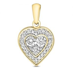 9ct Cluster Diamond HeartYellow Gold,yellow gold,Diamond Heart,Heart,Gold,Diamond,18ct,9ct,14ct,topjewellery,topjewelleryuk,birmingham