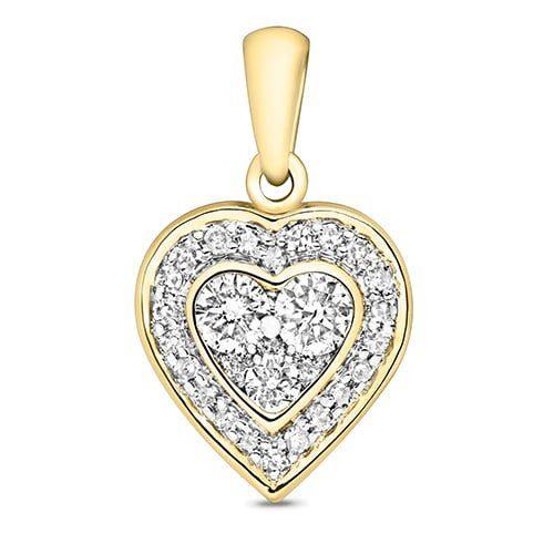 9ct Cluster Diamond HeartYellow Gold,yellow gold,Diamond Heart,Heart,Gold,Diamond,18ct,9ct,14ct,topjewellery,topjewelleryuk,birmingham