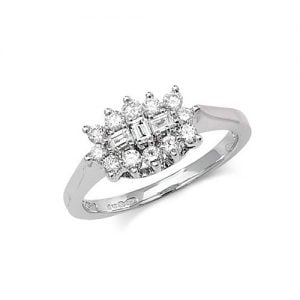9ct Cluster Diamond White Gold Ring,white gold,Diamond Cluster,Cluster,Gold,Diamond,18ct,9ct,14ct,topjewellery,topjewelleryuk,birmingham