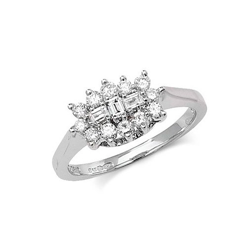 9ct Cluster Diamond White Gold Ring,white gold,Diamond Cluster,Cluster,Gold,Diamond,18ct,9ct,14ct,topjewellery,topjewelleryuk,birmingham