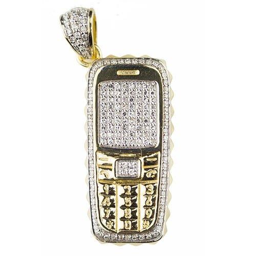 4d026940d1180 Diamond Burner Phone Pendant