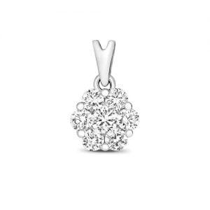 Clover 9ct diamond pendant,Diamond Pendant,9ct,14ct,375,750,585,Bezel set pendant,topjewelleryuk,birmingham