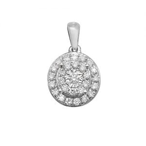 Cluster 18ct diamond pendant,Diamond Pendant,9ct,14ct,375,750,585,Bezel set pendant,topjewelleryuk,birmingham