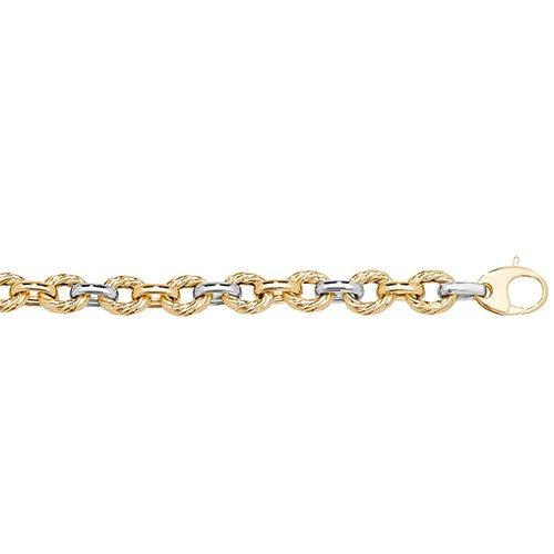 Donut,Fancy two tone bracelet,yellow,white,gold,yellow gold,white gold,two colored bracelet,9k,14k,18k,9ct,14ct,18ct,flower design,yellow&white gold.2