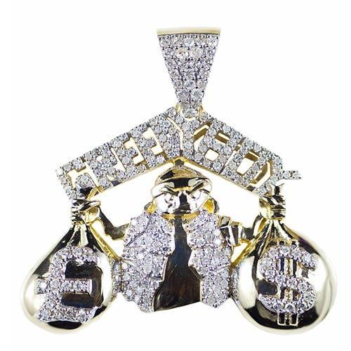 Greedy Boy Pendant gold diamonds,diamonds,jewellery,topjewellery,diamond pendant,gold,9k,14k,18k,9ct,14ct,18ct,gold,guld,topjewelleryuk,topjwellery