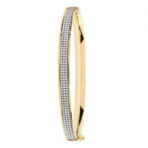 Ladies CZ bangle,Bangle,Gold,yellow gold hingde crushed cz bangle,9k,18k,14k,585,750,375,9ct,14ct,18ct,topjewellery,topjewelleryuk,goldonline.com,gold,goldonline,bangle,secure box clasp